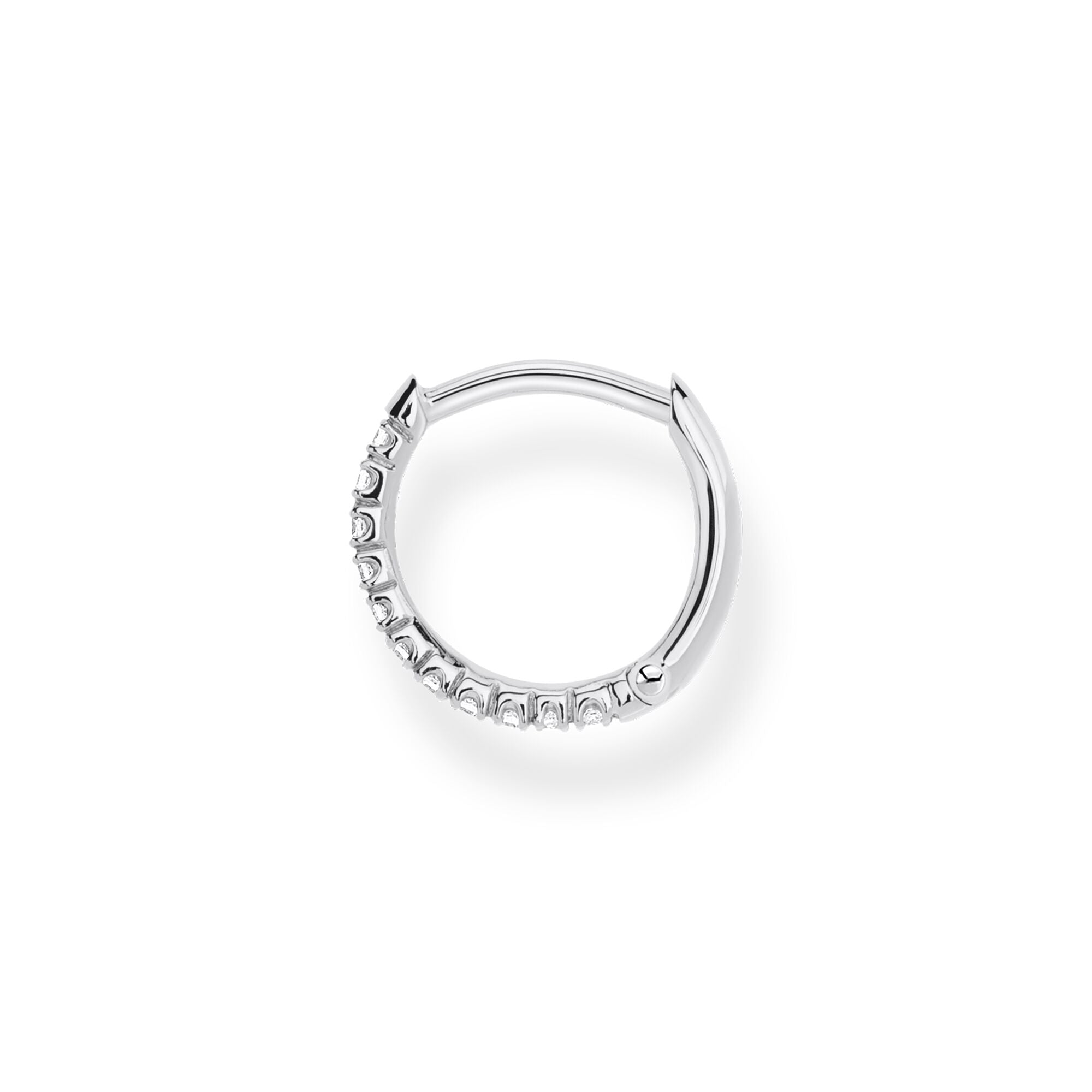 Thomas Sabo, Sterling Silver, Cubic Zirconia, Multi Stone, Hoop, 13.5mm, Single Earring, Ottawa
