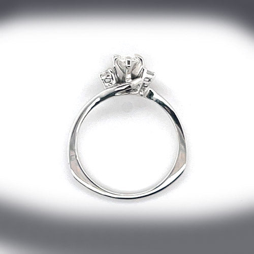 Estate 0.50 Carat Marquise Shape Diamond Engagement Ring