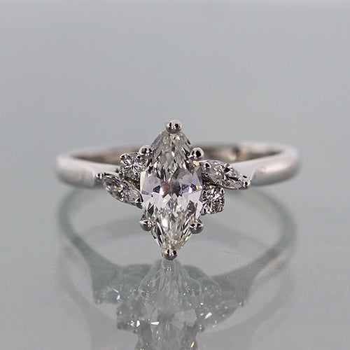 Vintage 1.02 Carat Marquise Shape Diamond Ring