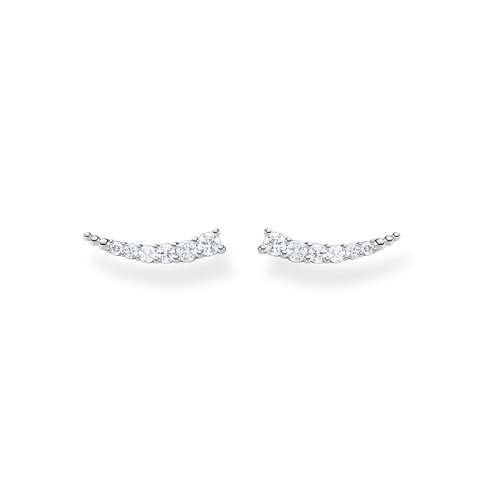 Thomas Sabo, Sterling Silver, Cubic Zirconia, Multi Stone, Curve, Earring Climbers, Ottawa