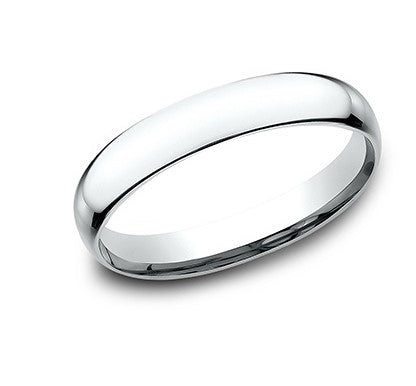 3mm platinum classic ring with a high polish finish