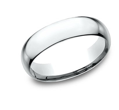 6mm platinum classic ring with a high polish finish