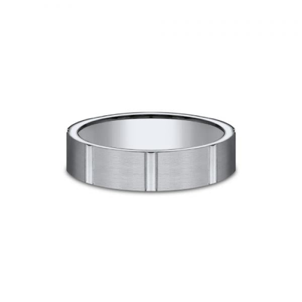 Benchmark Men's Titanium Wedding Ring