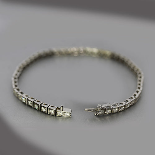 Estate 14K Diamond Tennis Bracelet