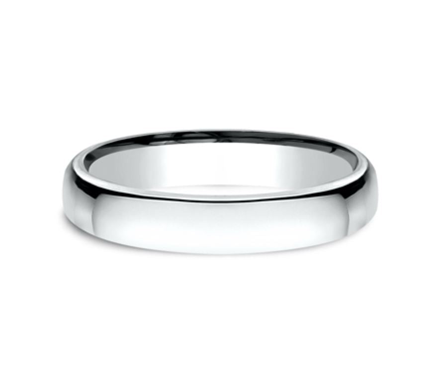 4.5mm 14K White Gold Comfort Fit Mens Ring