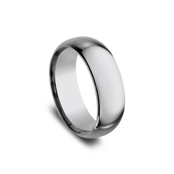 Benchmark Men's 8mm Domed Tungsten Wedding Ring