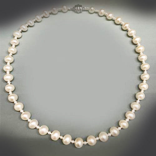 Estate Fresh Water Pearl and Sterling Silver Clasp Strand