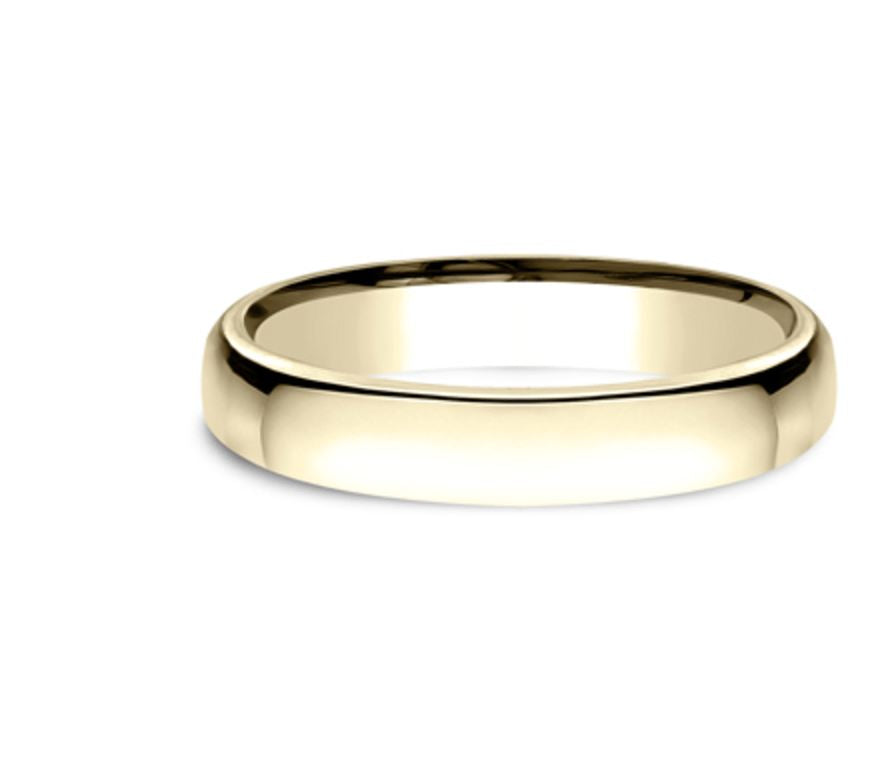 3.5mm 18K Yellow Gold Comfort Fit