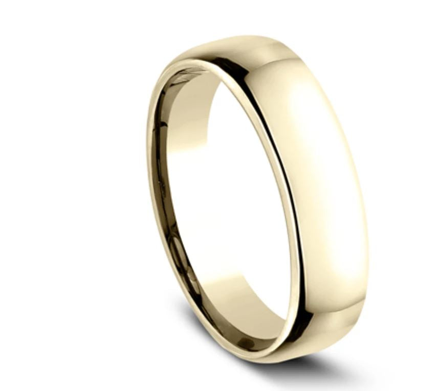 5.5mm 18K Yellow Gold Comfort Fit