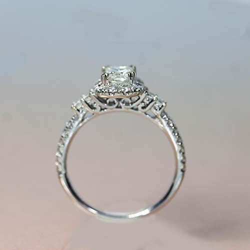Gabriel & Co. Candian diamond halo engagement ring