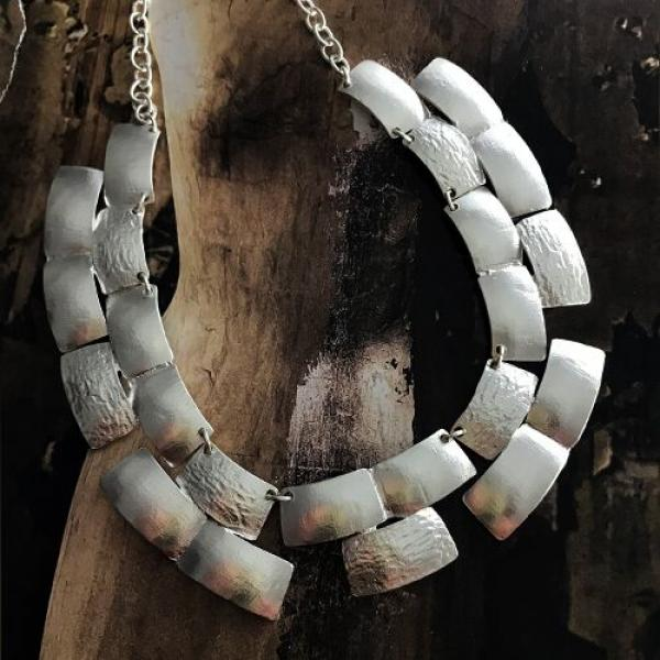 Karine Sultan Silver-Plated Collar Necklace