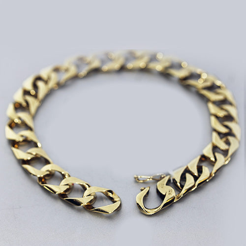 Estate Mens Heavy Curb Link Bracelet
