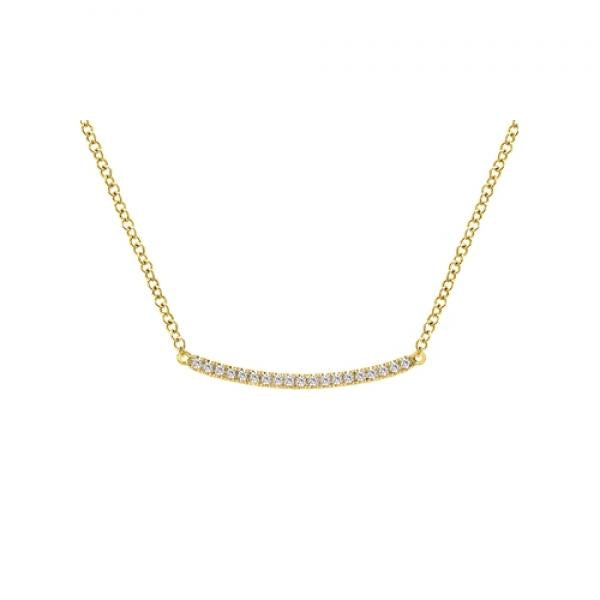 Gabriel & Co. 14k Yellow Gold Diamond Bar Necklace