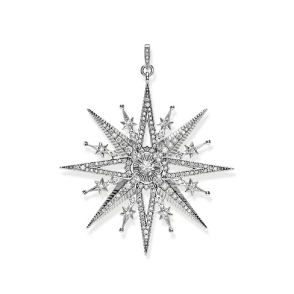 Thomas Sabo Royalty Star Pendant in Sterling Silver