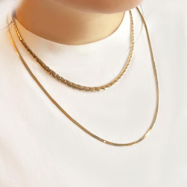 Estate 14k Yellow Gold Chunky Chain Necklace