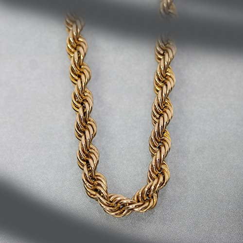 vintage yellow gold rope chain