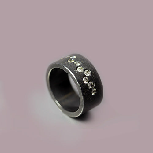 Todd Reed Sterling Silver and Diamond Ring