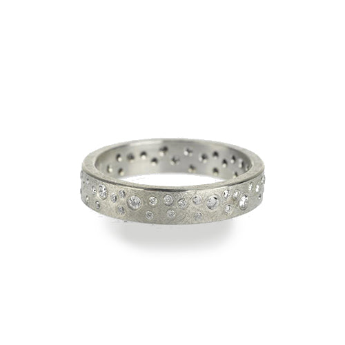 Todd Reed Palladium 4mm Organic Pattern Diamond Eternity Ring