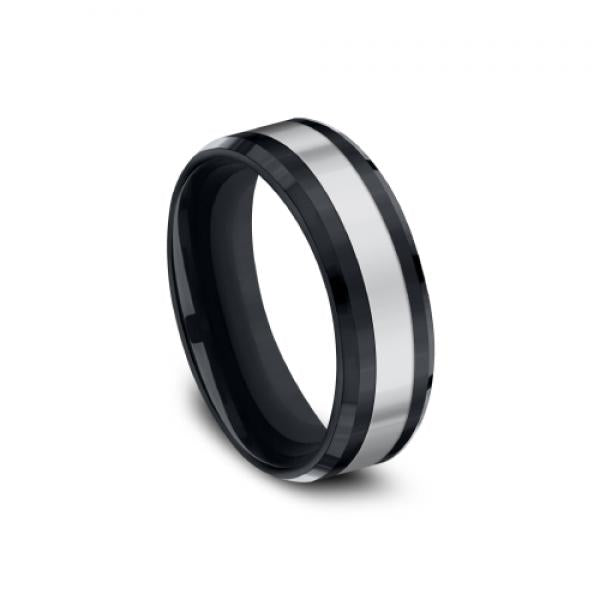 Benchmark Tungsten and Ceramic Men's Wedding Ring