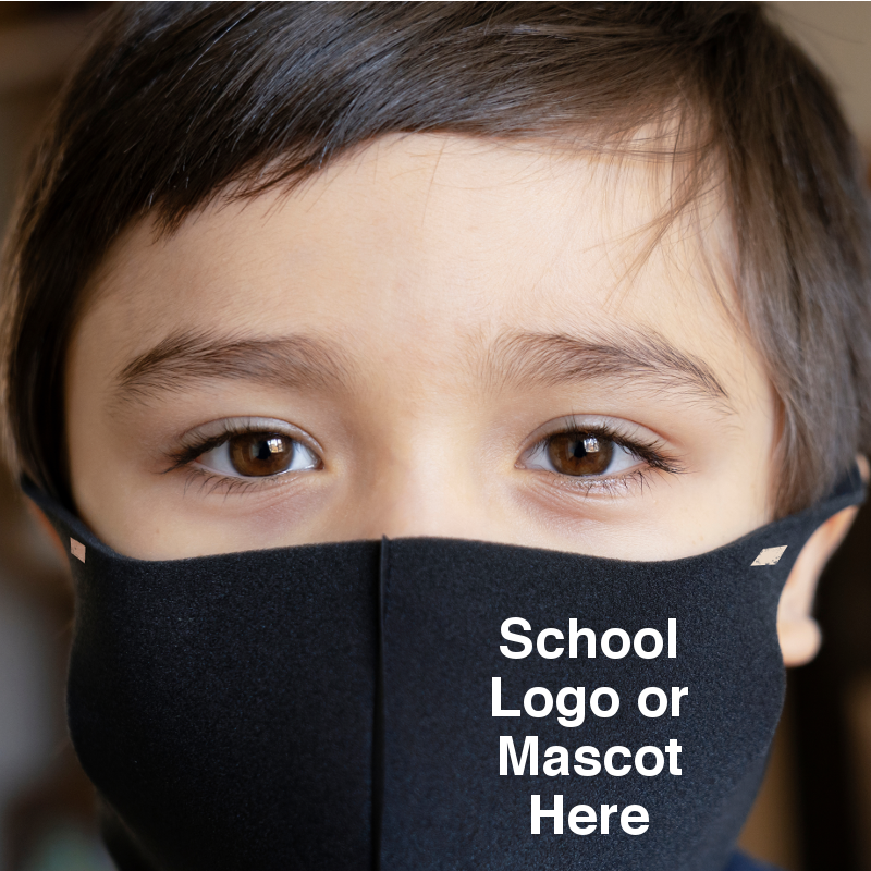 Student Face Masks with Name, Mascot or Branding
