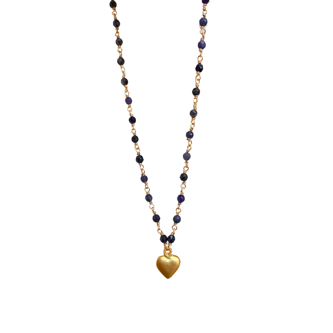 Aphrodite Necklace in Sodalite Blue
