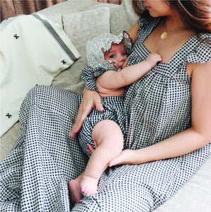 Cotton Maternity Dress - Airi - Gingham