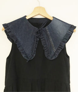 RE:LOVED Margot Mummy Collar - Dark Denim