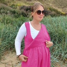 Load image into Gallery viewer, Maternity & Nursing Jumpsuit | Pink | Breast Dressed
