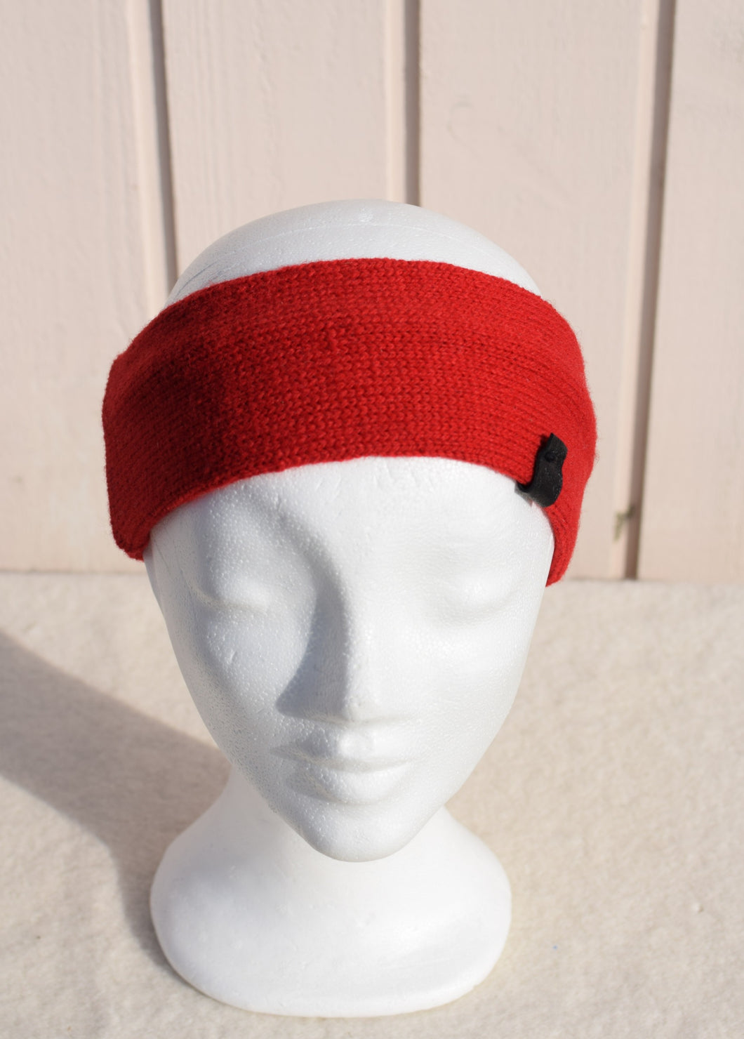 Headband with leather