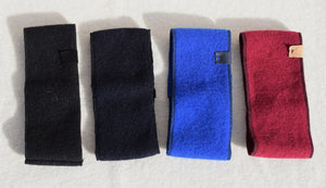 Felted headbands with leather