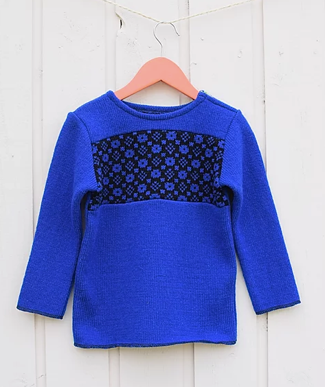 Smart children's sweater with faroese pattern