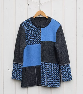 Jacket with faroese pattern and modern design (model 358)