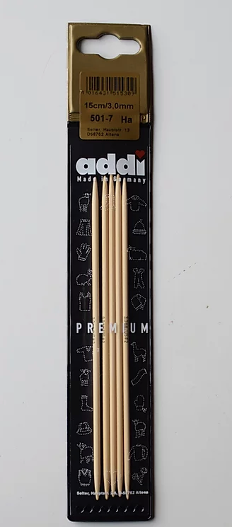 Bamboo knitting needles (15cm-20cm/2,0mm-3,5mm)