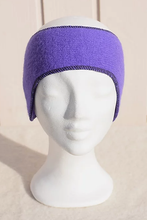 Load image into Gallery viewer, Felted headbands in single colours with long ear covers