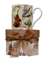 Load image into Gallery viewer, Musical Motif Coffee Cup in Matching Gift Box