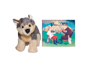 A Plush Wolf & Peter and the Wolf with Audio CD