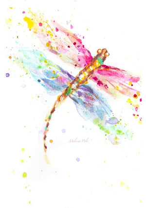 Open image in slideshow, original dragonfly painting