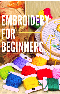 BOOK - HOW TO EMBROIDERY FOR BEGINNERS