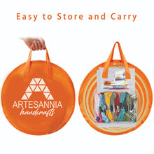 Load image into Gallery viewer, Artesannia Embroidery Beginners Kit with 50 Skeins Threads and a Circular Packing Bag