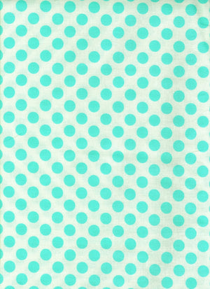 Fabric - Patchwork Ta Dot Aqua