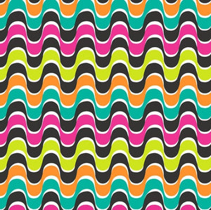 Fabric - Patchwork Rio Waves Multi