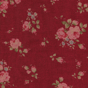 Fabric - Patchwork Antique Rose Red