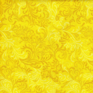 Fabric - Quilt Backing Essential Flourish Yellow