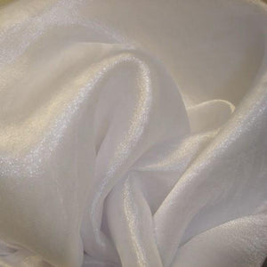 Fabric - Sheer Crystal Organza White White