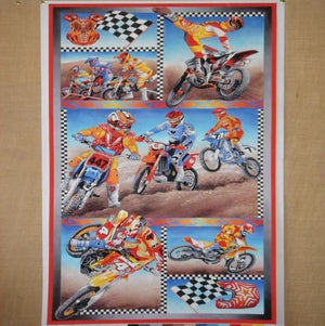 Fabric - Panels Motorcross Panel Multi