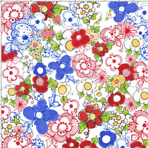 Fabric - Patchwork Loralie Kitchen Posies Multi