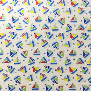 Fabric - Kids Prints Ship Ahoy Cream