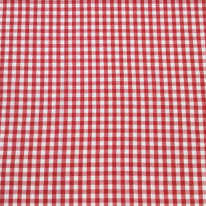 Fabric - Basics Gingham Polycotton Red Large 8mm Red