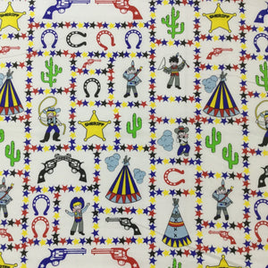 Fabric - Kids Prints Wild West Cream