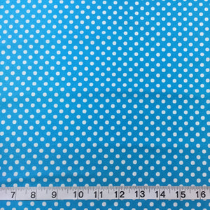 Fabric - Blenders Lecian Colour Basic Medium Spot Blue Blue